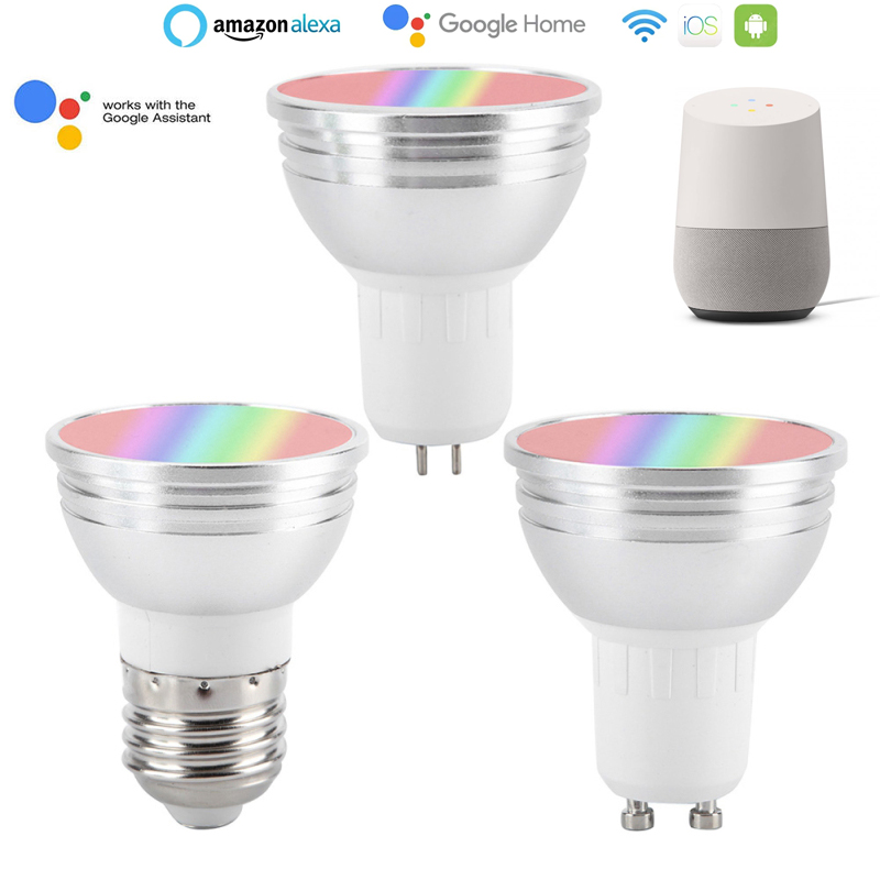 Smart Bulb LED Light Bulb WiFi Dimmable Change Color Lamp Smart Life Tuya Remote Control Bulb Workwith Alexa Google Home  Amazon