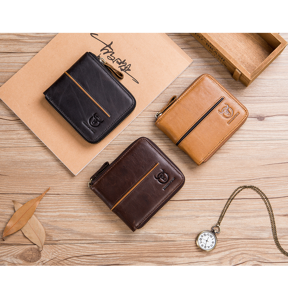 Anti-radio Frequency Identification RFID Men/'s Short Wallet Purse Card Holder