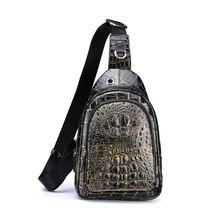 yinshang новый крокодил грудь пакет мужской досуг мужской моды склонны плечо мешок Мужские сумки тенденция мужской груди мешок