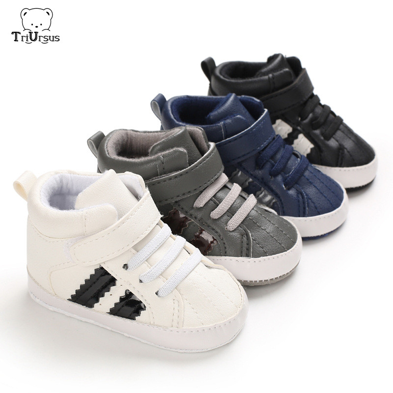 New Born Baby Boy Sports Walking Shohes Weixinbuy Infatil Soft Sole Shoes PU Leather Sneaker Bebe Striped Toddler Sports Shoes