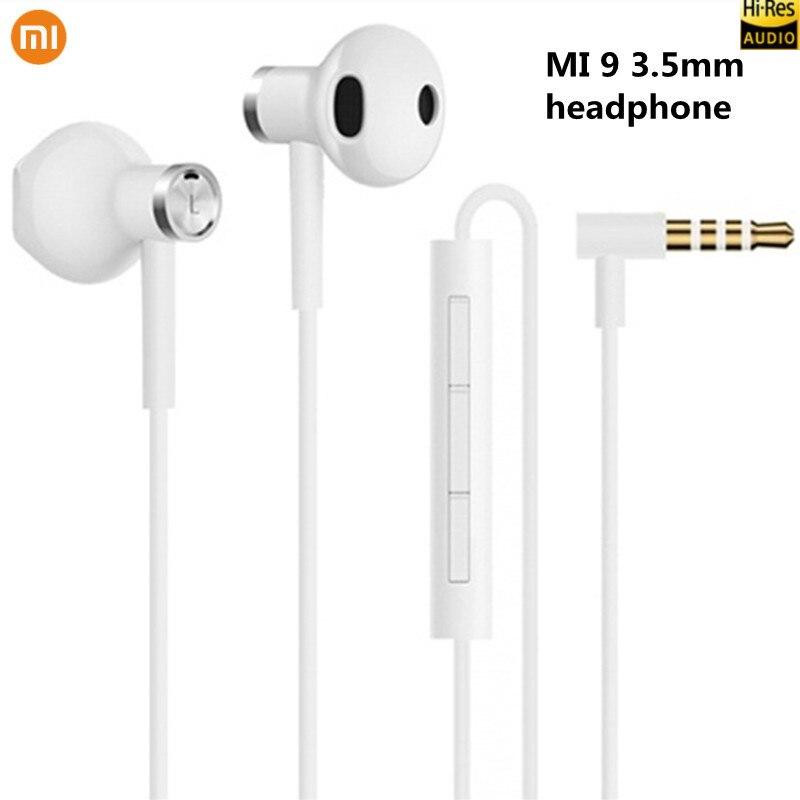 Original Xiaomi Hybrid DC Seo In-Ear Earphone 3.5mm Earphone With Mic Wire Control Dual Driver For Mi 8 9 SE Redmi 8 8A Note 8T