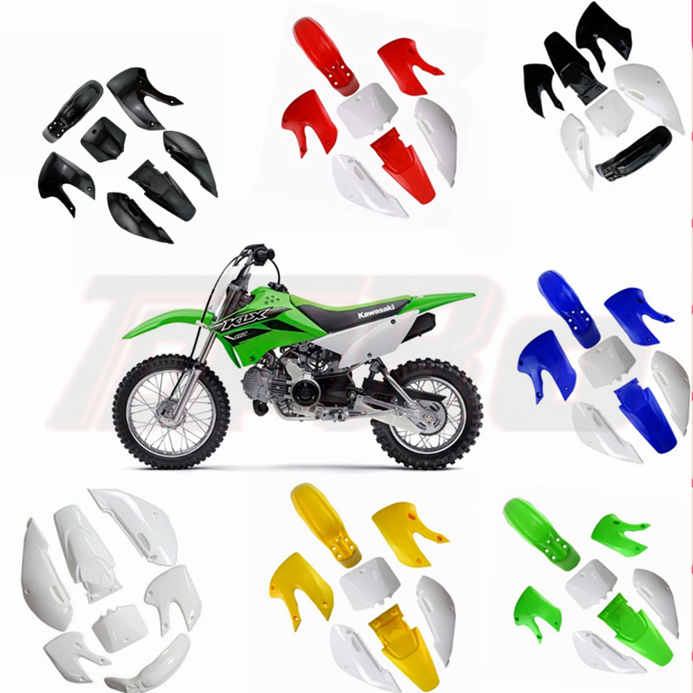 TDPRO For Kawasaki KLX 110 KX65 DRZ110 Full Fairing Kits Motorcycle Plastic Body Cover Fenders Mudguard  Dirt Pit Bike 2002-2013