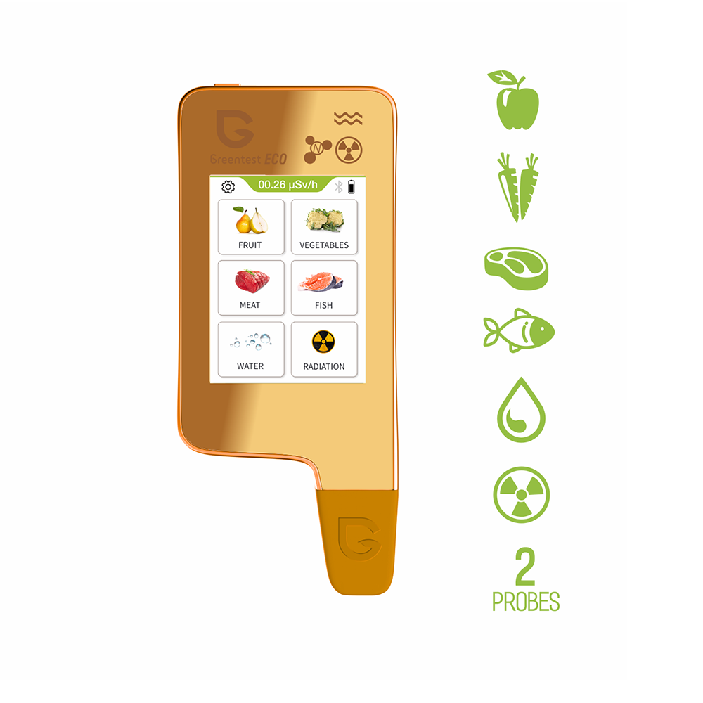 Greentest-ECO6 Updated Home Kitchen Radiation Detector Nitrate Tester TDS Water with  Bluetooth Function and Capacitive Screen