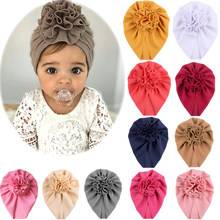 Knot Bow Baby Headbands Toddler Headwraps Baby Flower Turban Hats Babes Caps Elastic Hair Accessories 2021 New