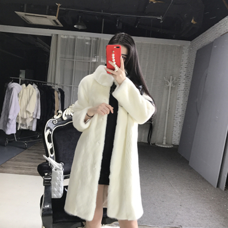 quality Superior Real Mink Fur Coat For Women China Full Sleeve Thick Warm Long Genuine Natural Fur Coats Plus Size S-5XL s