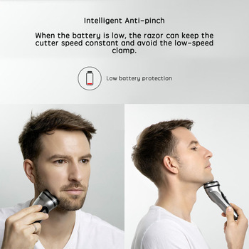 Xiaomi Electric face Shaver Enchen BlackStone 3D Electric Machine Razor Beard Washable USB Type-C Rechargeable for Men gifts 1