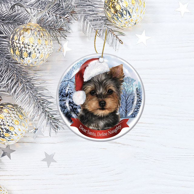 Dog Tree Pendants Merry Christmas  4