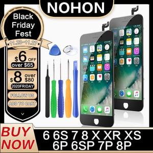 Image 1 - NOHON Daffichage À CRISTAUX LIQUIDES Pour liphone 6 6S 7 8 Plus X XS XR Remplacement Décran HD 3D Numériseur Tactile AAAA LCDs De Téléphone Portable Chaud