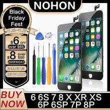 NOHON LCD ekran iPhone 6 6S 7 8 artı X XS XR ekran değiştirme HD 3D dokunmatik Digitizer montaj aaa cep telefonu LCDs