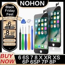 Nohon display lcd para iphone 6s 7 8 plus x xs xr substituição da tela hd 3d toque digitador assembléia aaaa lcds do telefone móvel quente