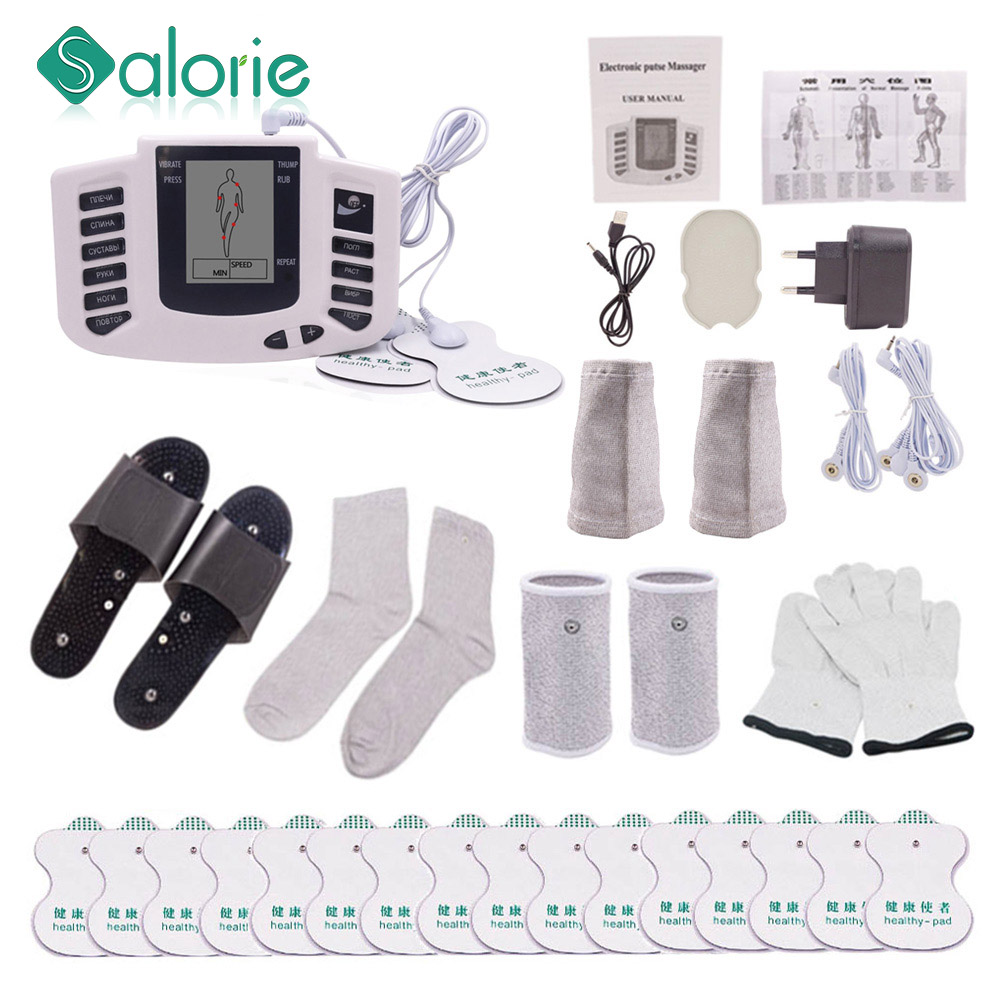 12 Buttons Electric herald Tens Muscle Stimulator Ems Acupuncture Body Massage Digital Therapy Machine Electrostimulator 1