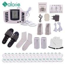 12 pulsanti elettrico herald Tens stimolatore muscolare Ems agopuntura massaggio corpo terapia digitale elettrostimolatore