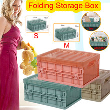 Plastic Folding Storage Container Basket Crate Box Stack Foldable Organizer Sundries Bathroom Home 2020#A