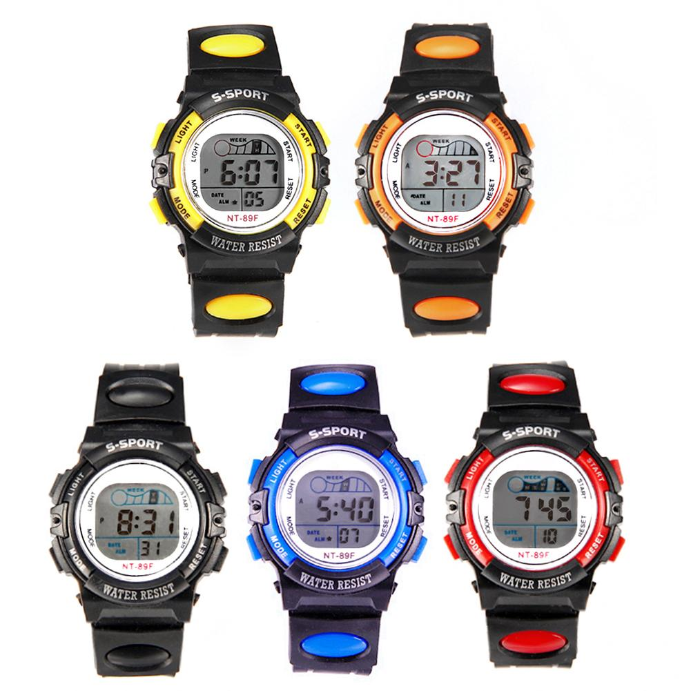 Multi-functional Kids Children Student Sports Waterproof Clock Luminous LED Digital Date Alarm Wrist Watch