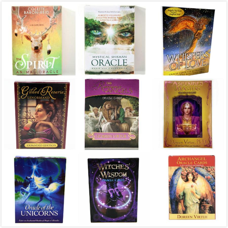 Romance Angels Oracle Cards English Read Fate Card Game Board Game UNICORNS Lenormand Oracle Cards Tarot Deck For Personal Use
