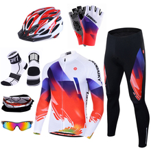 Neue Pro Zyklus Kleidung Mtb Fahrrad Jersey Set Männer Sommer Langarm frauen Bike Sportwear 3D Padded Ropa Ciclismo hombre