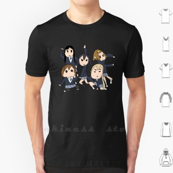 Keion - Bu T Shirt Big Size K On Kon Anime Japan Asian Band Girls Yui Ritsu Mio Mugi Azusa Houkago Tea Time Deformed Funny image