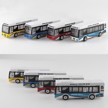 5pcs/lot Model Bus with 12V LED lighting Scale Bus Model Airport Bus Fire Rescue Bus Model Toy Kits for sale