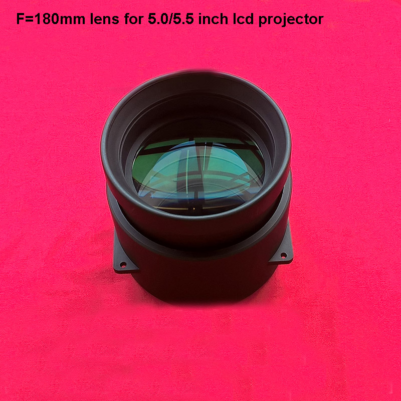 LED projector DIY lens F180mm focal length projection glass lens home cinema diy lens for 5 5 8 inch projector lcd free shipping