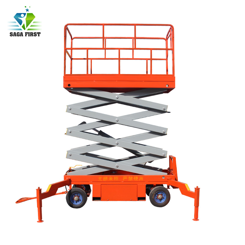 4m To 18m 500kg To 2000kg Load Semi Electric Hydraulic Mobile Scissor Lift For Indoor And Outdoor