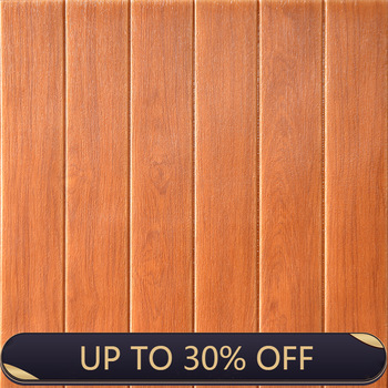 Wood grain 3d stereo wall stickers living room TV background wall soundproofing rental room decoration live background thickenin image