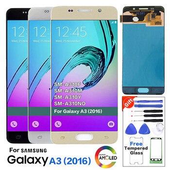 Original Super Amoled A310 LCD Display for Samsung Galaxy A3 2016 A310 A310F A3100 Mobile phone LCD Panel Pantalla