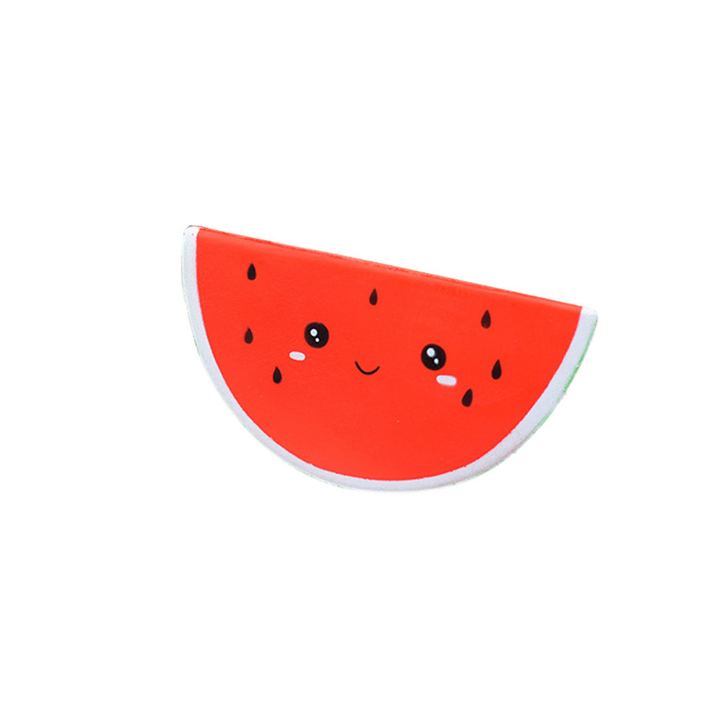 Cute Watermelon Stress Reliever Slow Rising Toy Simulation Fruit Slow Rebound Decompression Toy Birthday Gift #A