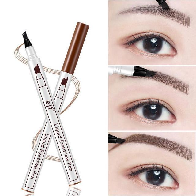 3 Colors 4 Head Eyebrow Marker Pencil Waterproof Microblading Eyebrow Thin Tattoo Pen Eyebrows Shades Makeup Eye Brow Pencil 1