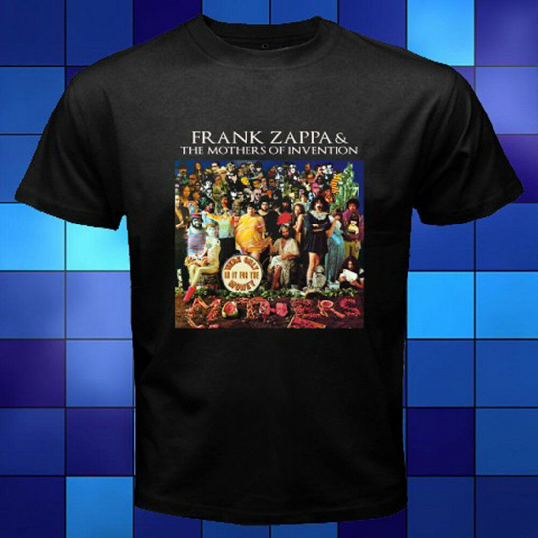 T-shirt uomo frase Frank Zappa without deviation from the norm no progress