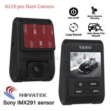 Original VIOFO A119 Pro V2 voiture tableau de bord caméra DVR GPS condensateur Novatek 96660 enregistreur H.264 2K HD 1440p voiture tableau de bord caméra DVRs