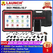 Launch X431 PRO3S + 10.1 Upgrade Van X431 V + Bi Directiona Volledige System Diagnostic Tools 30 Reset Service ecu Codering L Scan Tool