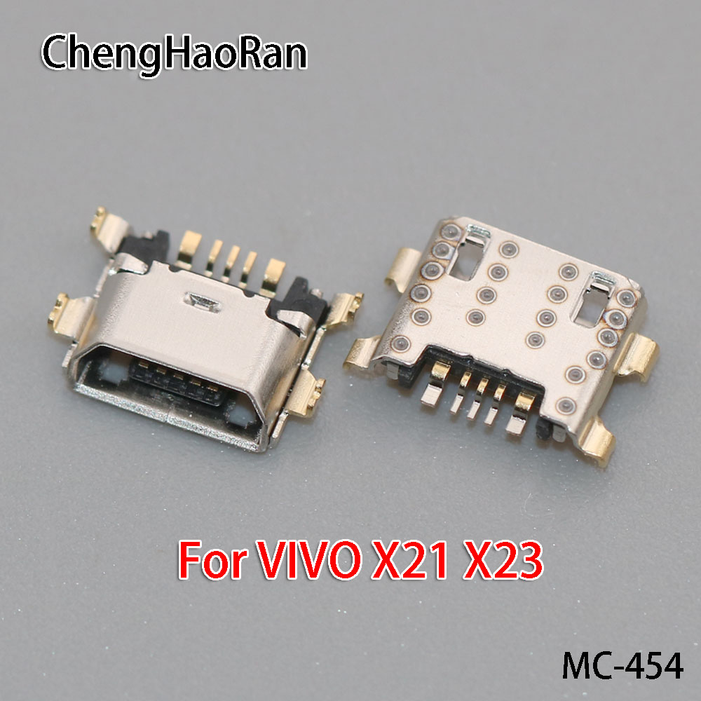 ChengHaoRan 1pcs For VIVO X21 X23/X21i X21Plus X21UD Mobile Micro USB Charge Port Charging Socket Jack Connector Replacement