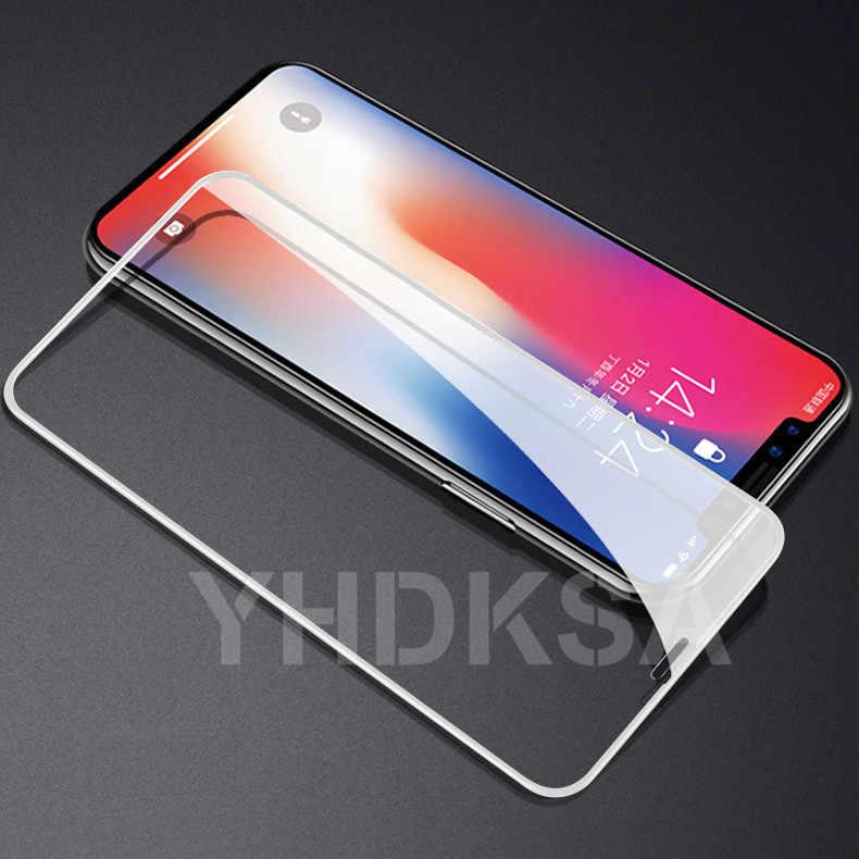 100D Melengkung Pelindung Kaca Tempered Di UNTUK iPhone 6 6 S 7 Plus Kaca Pelindung Layar untuk iPhone X XR X 11 Pro Max Film
