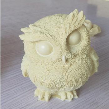 3D Cute sowa kształt silikonowe ciasto dekorowanie narzędzia mydło wyrabiane ręcznie świeca formy DIY tynk aromaterapia Making mold żywica rzemiosło tanie i dobre opinie Silicone FW-SM9299 11*9 8*10 9cm -40F to +446F(-40c to +230c) DIY Plaster Aromatherapy Making Mould