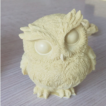 3D Cute Owl Shape Silicone Cake Decorating Tools Handmade Soap Candle Molds DIY Plaster Aromatherapy Making Mould Resin Crafts