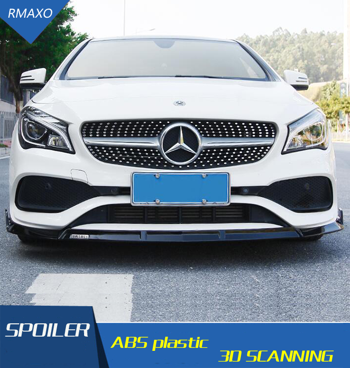 For Mercedes-Benz CLA W117 Body kit <font><b>spoiler</b></font> 2016-2018 <font><b>CLA200</b></font> 180 250 ABS Rear lip rear <font><b>spoiler</b></font> front Bumper Diffuser Protector image