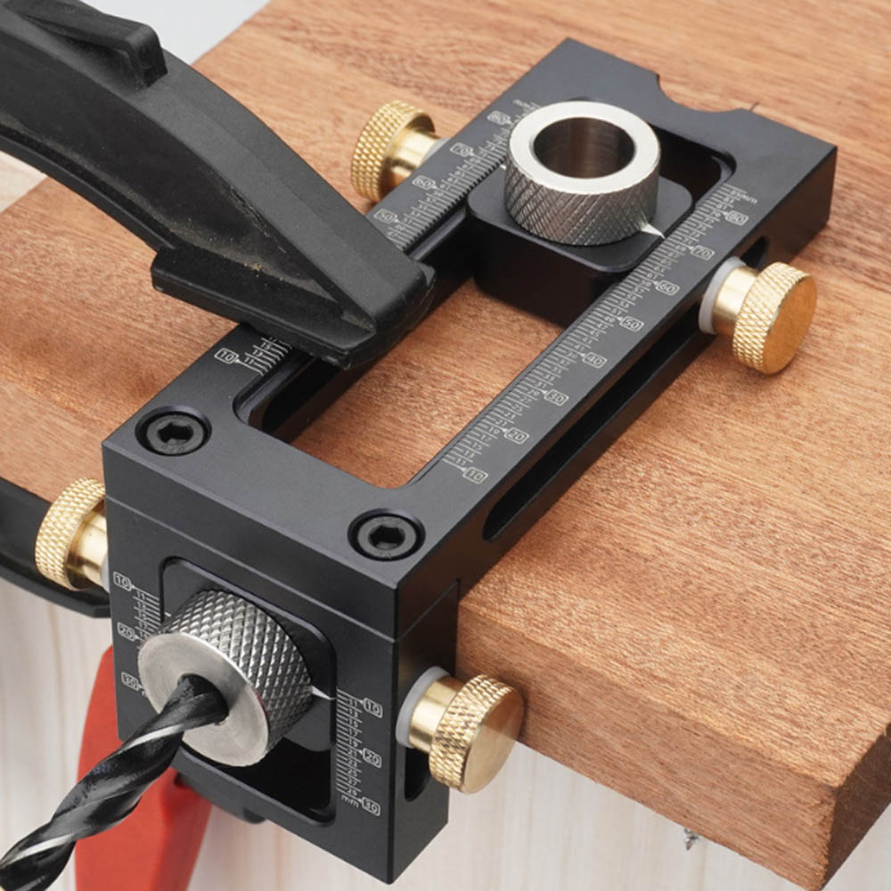 woodworking tools 2 in 1 Drill punch Positioner Locator Jig for baby crib cross oblique flat head puncher bed cabinet screw