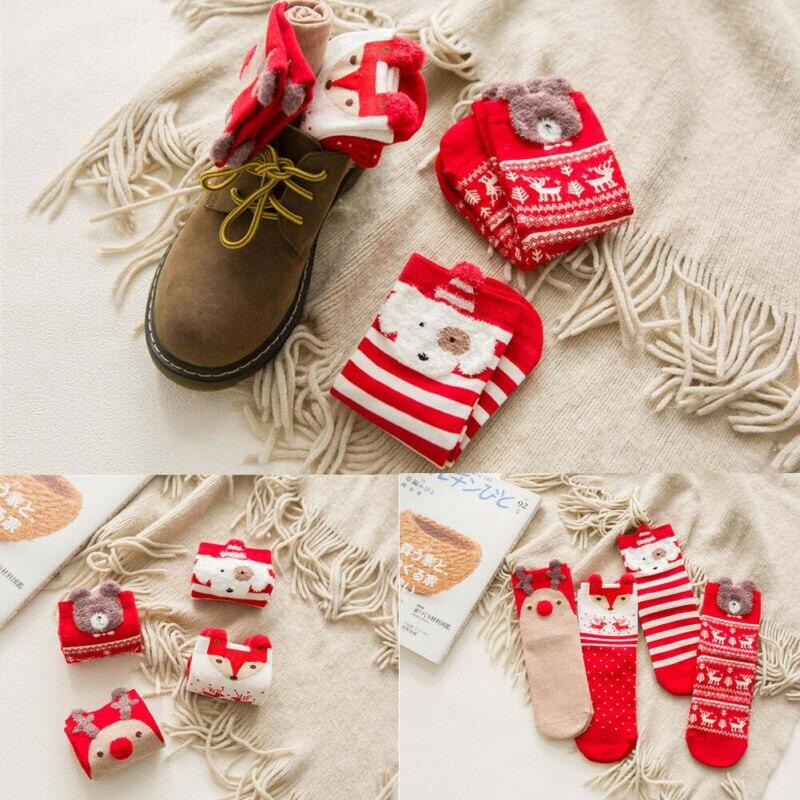 Christmas Socks Santa Claus Gift Kids Unisex Xmas Funny Socks FOR Women Girls