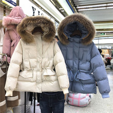 Winter Women Warm Jacket New Style Fashion Hooded Thickening Cotton Coat Casual Loose Large size Female Parkas S-XL
