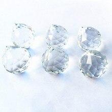 10 шт./лот, высокое качество, 20 мм, K9 кристалл, висящий граненый прозрачный шар/Хрустальная люстра, сферические подвески/Хрустальные части освещения