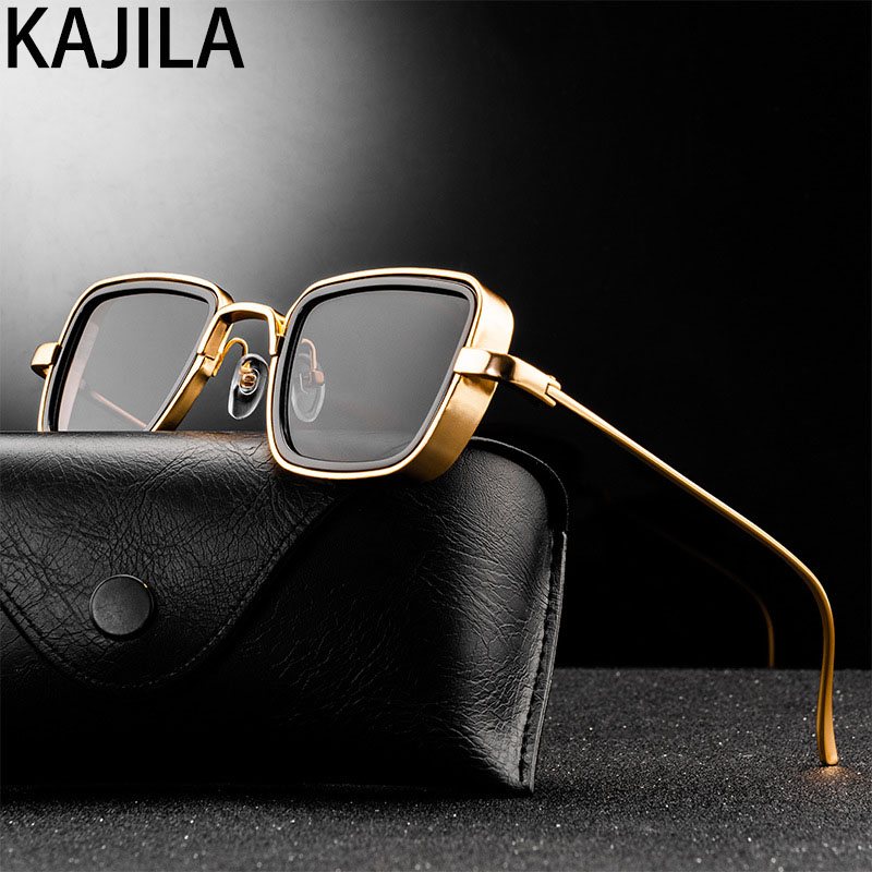 Vintage Steampunk Sunglasses Men 2020 Retro Metal Square Eyewear Trendy Brand Sun Glasses Shades For Women lunette de soleil