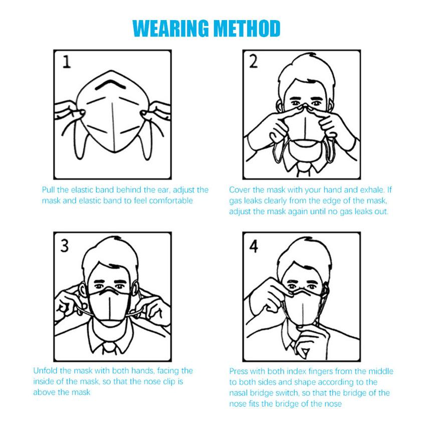Le Jeune moderne.Santé-Masque jetable de protection haute qualité non-tissé-Masque de bouche jetable protéger haute qualité bouche régulière nez couvre Non-tissé masque Anti-poussière 10-500 pièces