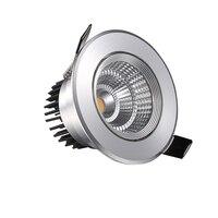 Светодиодный COB светильник с регулируемой яркостью 3 Вт встраиваемый потолочный светодиодный светильник Светодиодный точечный светильник ...