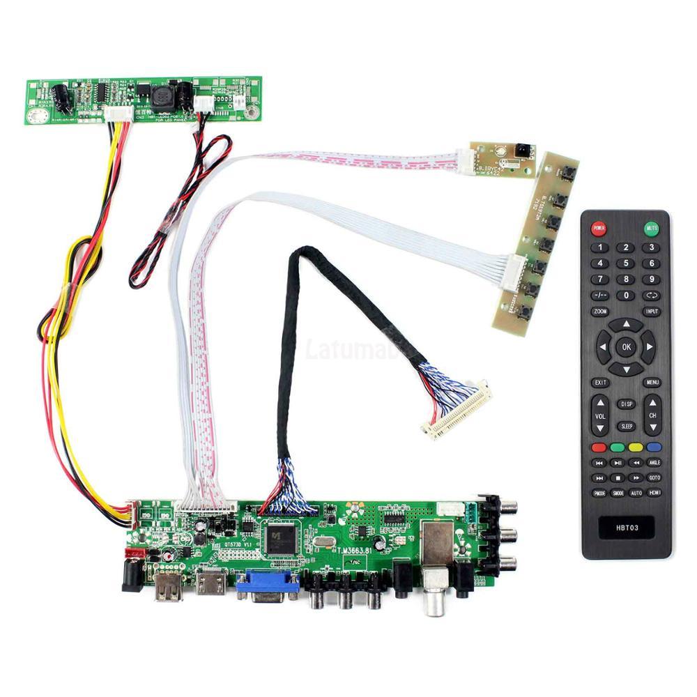 VGA LCD Controller Board Work for LTN154AT01 LTN154AT07 LCD Panel