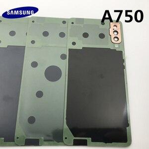 Image 5 - Задняя крышка для аккумулятора, сменный корпус для стеклянной двери + рамка для объектива задней камеры для Samsung Galaxy A7 2018 A750 A750F