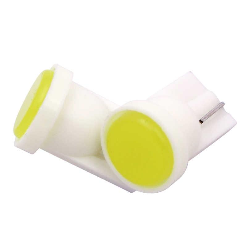 Keramik Interior Mobil LED T10 COB W5W 168 Baji Pintu Instrumen Sisi Bohlam Lampu Mobil Lampu Lampu Plat Putih/ biru/Hijau/Merah/Kuning