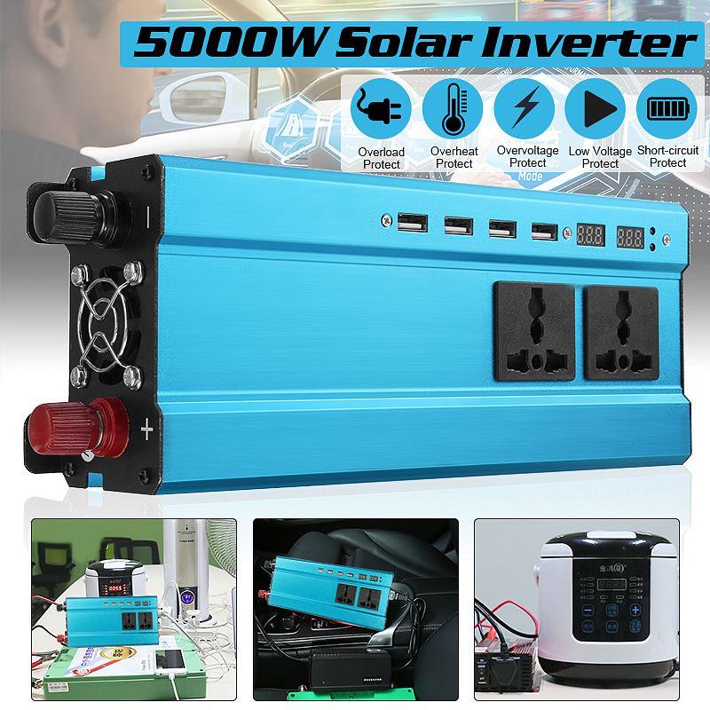 Солнечный инвертор DC 12V 24V к AC 110/220V 3000W 4000W 5000W Инвертор Трансформатор напряжения светодиодный преобразователь для дома и автомобиля|Инверторы и конвертеры|   | АлиЭкспресс