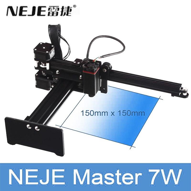 Original NEJE MASTER 7W Laser Engraving Machine 150mm*150mm Personal 3D Printer Kits Support Wood Metal Leather