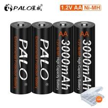 4-16Pcs 1.2V Ni-Mh AA Rechargeable Battery 3000mAh AA 2A Battery for Temperature Gun Camera Flashlight Mouse Batteries AA