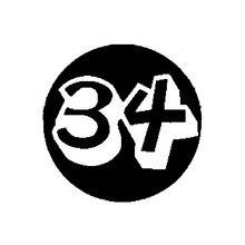 Hohe Qualität Mode Nummer 34 Vinyl Hohe-qualität Retro-reflektierende Auto Aufkleber Aufkleber Dekoration 14CM * 14CM